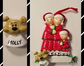 Personalized Tan Dog ADD ON To Any Ornament