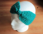 Crochet | Hair Band | Head Band | Hand Made | Wool | Bright | Turquoise