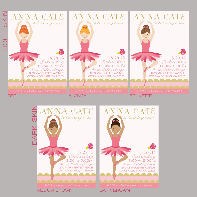 Ballerina Valentines - Ballet Dancer Valentine - Party Supplies