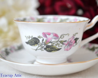 ON SALE Royal Albert Cotswold Teacup And Saucer Set,  Signed By The Artist, Replacement China, Cabinet Cup, ca. 1940