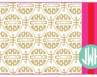 Tan Asian Inpired Placemats