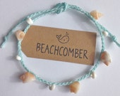 beach anklet, shell jewelry, beach bohemian anklet, beachcomber accessory