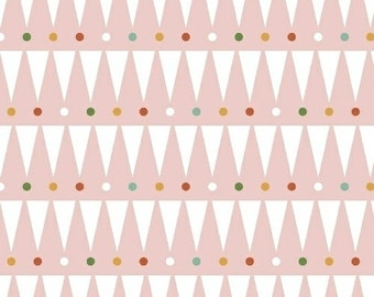 Party Animals - Party Stripe in Pink (Organic)- Petit Collage for Windham Fabrics - 41512-6 - 1/2 yard