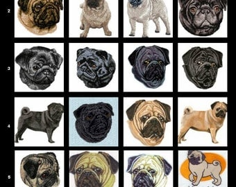 Custom Embroidered Pug Tshirt S-4XL