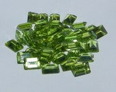 Natural Untreated Peridot Emerald Cut  7 x 5 mm