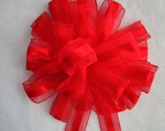 Red Bow / Wreath Bow / Christmas Bow