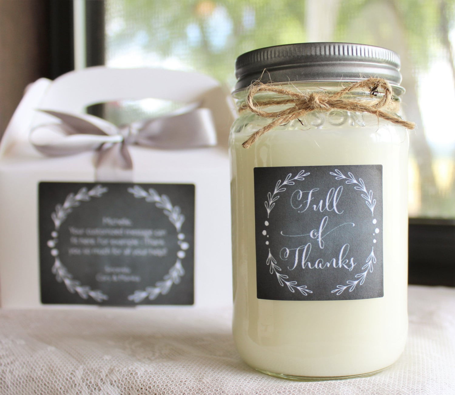 Wedding Gift Candles: Thank You Gift //Appreciation Gift// Thank You Candle//16 Oz
