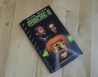 Handmade  Halloween 2 1981 Horror Movie Re-purposed VHS Cover Notebook Journal