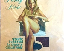 Vintage 60s-70s Sexy Model Pantyhose Beige One Size Up To 160 lbs Nylon NOS USA