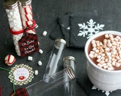 "6"" Round Favor Tubes ~ Hot Cocoa Tubes ~ Candy Tubes (set of 6) ~ As Seen On Hoosier Homemade~"