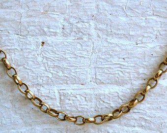 RESERVED - Vintage 9K Yellow Gold Belcher Chain, 17 inches