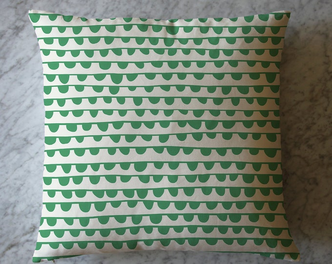 Green Half Moon Stripes Throw Pillow. June 8, 2016