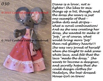 """PICK 1 > Personality Pictures For CDH """"Three Blind Mice..."""" - Personality Picture For 18"""" Dolls #30, #31, #32, #33"""
