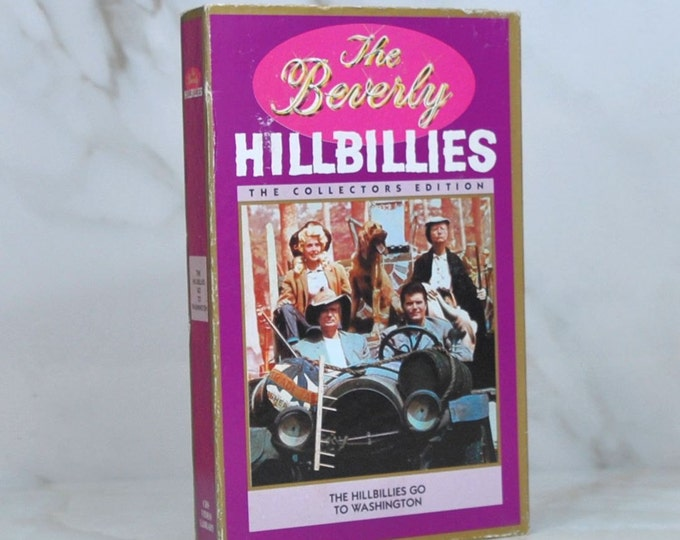 Vintage VHS Tape 1990 CBS Video The Beverly Hillbillies Collector's Edition The Hillbillies Go To Washington 1970 - Millionaire - Oil