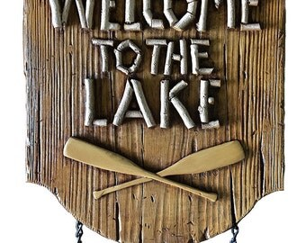 Welcome to the Lake Personalized Sign