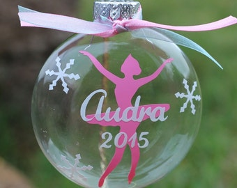 Personalized Ballet Christmas ornament
