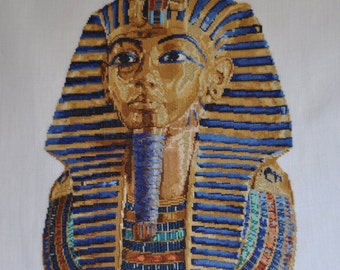 Finished completed Cross stitch - Lanarte Culture collection - Tutankhamun by Thea Gouverneur crossstitch counted cross stitch