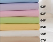 Colorful Twill Cotton Fabric, Pure Solid Color Garment,Plain,diy,Sewing 1/2 yard (QT784)