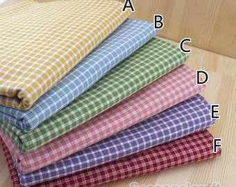 Yarn-dyed Gingham Cotton Fabric, Pre Washed Cotton fabric, diy fabric, Cotton Fabric 1/2 yard (QT841)