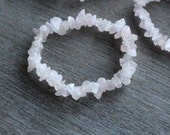 Rose Quartz Chip Stretchy String Bracelet B6