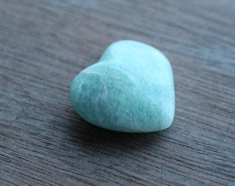 Amazonite Heart Shaped Stone  #24396