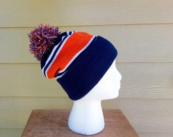 Sports Team Beanie Bobble Hat, Denver Broncos, Chicago Bears, mens, womens, kids, teens, custom sizes, holiday gift, NFL, football, college