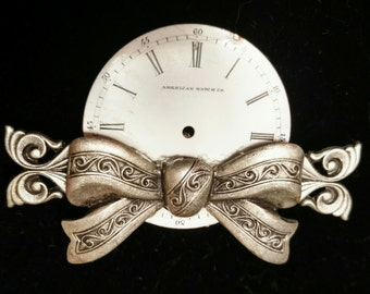 Steampunk Watch Dial Brooch