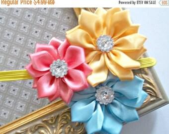 CHRISTMAS In JULY SALE Baby Flower Headband - Small Flower Headband - Baby Photo Prop