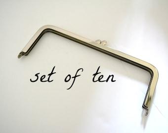 Set of Ten Metal Purse Frame - DIY Purse Hardware