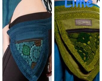 PIXIE BELT  - assorted colours - Pocket BELT, psytrance belt, fanny pack, crbetl