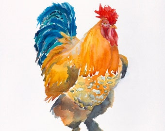 rooster kitchen art chicken painting rooster painting chicken kitchen print painting watercolo chicken print rooster print on canvas