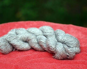 Llama Yarn | Light Grey / Taupe | 2 Skeins 100 Percent Llama | From Gisele, Petals & Blanco