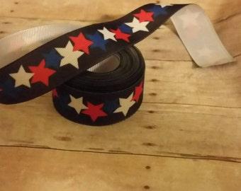 Patriotic stars ribbon