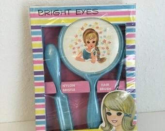 Vintage Dresser Set, Childrens Dresser Set, Bright Eyes, Big Eyes, Vintage Toy