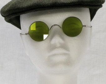 Vintage Spectacles, French Spectacles, Old Glasses, French Eye Glasses, Art Deco Specs, Tinted Spectacles, Stage Props, Desktop Items (5378)