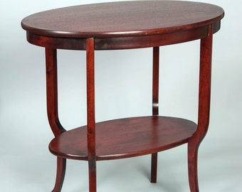 Oval Occasional Table with Cabriole Legs