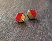 Hexagon Studs - CUSTOM COLOR