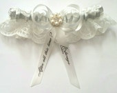 Harry Potter AlwaysDeathly Hallows Themed Wedding SatinSatin and LaceGarter Set