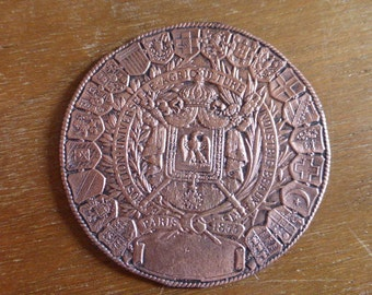 Exposition Universelle 1855 Copper commemorative Medal By Louis Bottee Award Prize