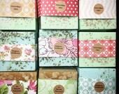 25 Wedding Favors Full Bars Handmade Soap-Soaps-Bridal Shower - Party Favors - Rustic Wedding - Custom Wedding Favors in your Wedding colors