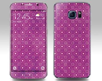 PURPLE PATTERN Galaxy Decal Galaxy Skin Galaxy Cover Galaxy S6 Skin, Galaxy S6 Edge Decal Galaxy Note Skin Galaxy Note Decal Cover