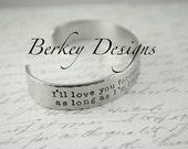 Mother Gift / Daughter Gift / Custom I'll Love you Forever Hand Stamped Secret Message
