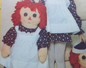 "Raggedy Ann and Andy Dolls Pattern 36"" Dolls McCalls 4268"