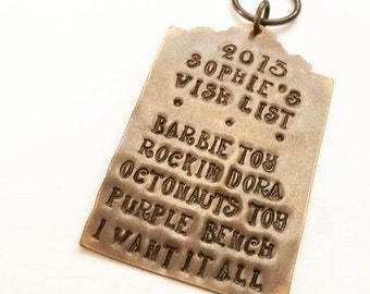 Christmas Wish List Personalized Ornament