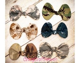 Military Hair Clip,, Army, Acu, USAF, usmc, us navy, Baby military headband, Military bow, Military hair bow, Multicam, deployment, milso