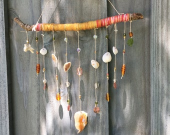 Beach Inspired Blessing Branch Mini Amber Waves Wall Hanging