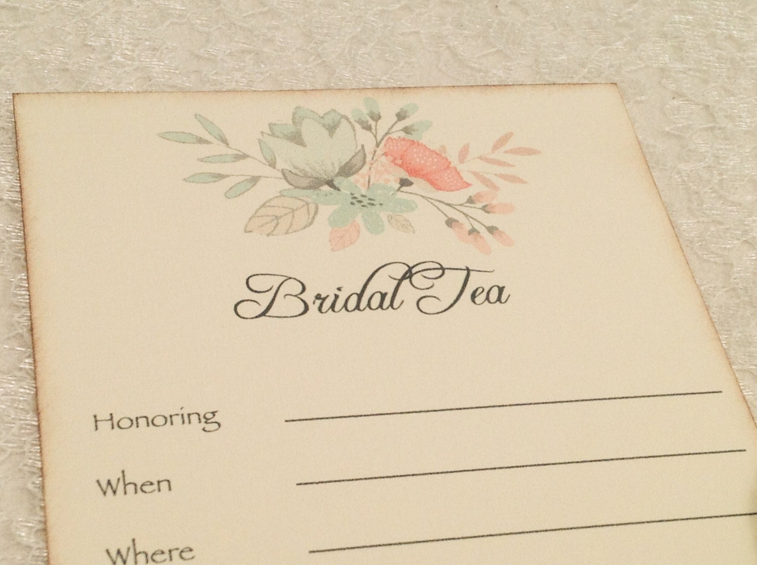 Fill in blank invitations bridal tea invitations wedding for Bridal shower fill in invitations