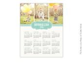 INSTANT DOWNLOAD - 8x10 Calendar template 2016  Bryan & Leah - E187