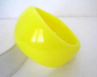 Ben-Amun by Isaac Manevitz Yellow Wave Bangle Wide Bracelet
