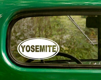Yosemite National Park Decal Sticker, Car Decal, Travel Mug, Laptop Sticker, Oval Sticker, Vinyl Decal, Car Sticker